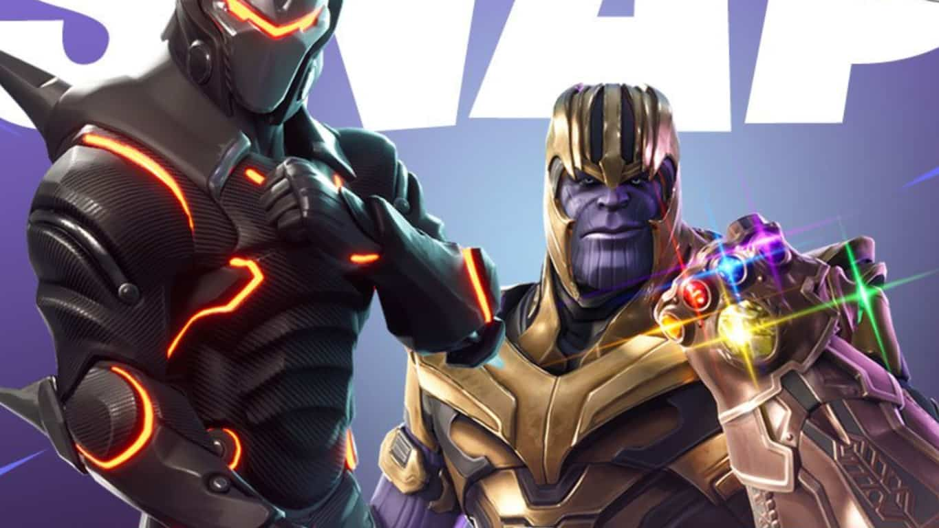 Thanos in Fortnite video game on Xbox One. Image coutesy of Entertainment Weekly