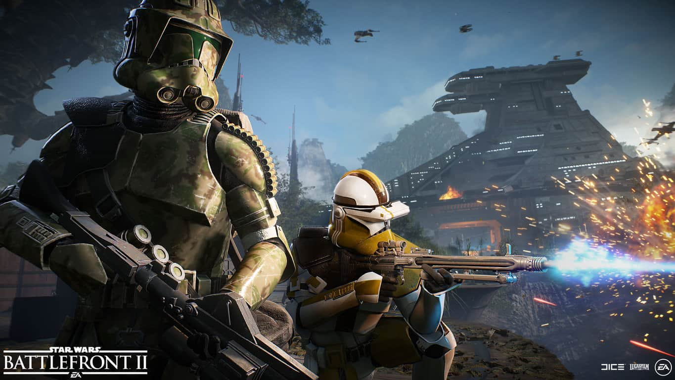 Clone Troopers in Star Wars Battlefront II on Xbox One