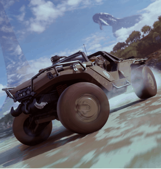 The Halo crossover in Forza Horizon 4 makes an appearance at