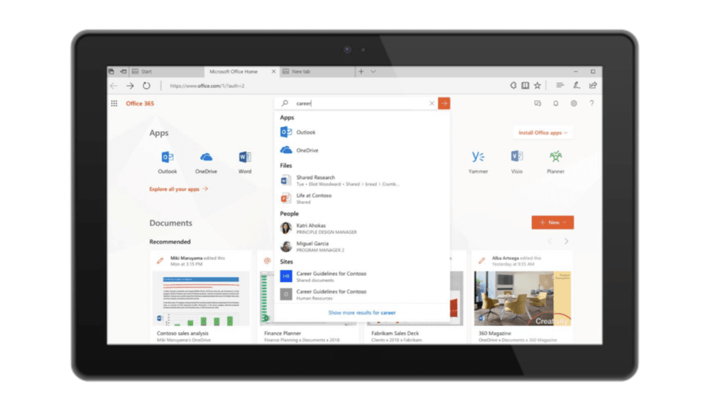 ignite 2018 microsoft search is a supercharged consistent search experience across edge bing windows and office apps