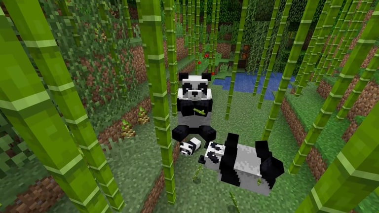 Minecraft cats and pandas