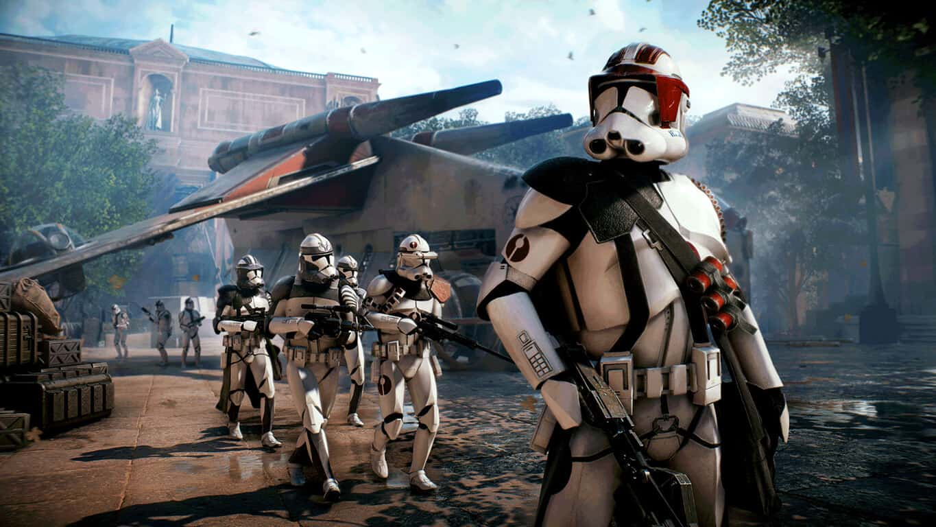 Star Wars Battlefront II video game on Xbox One
