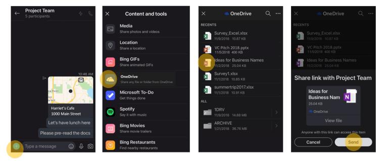 OneDrive in Skype