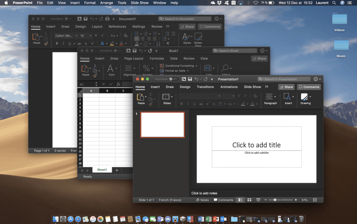 Office 365 for Mac gains dark theme support on macOS Mojave OnMSFT com