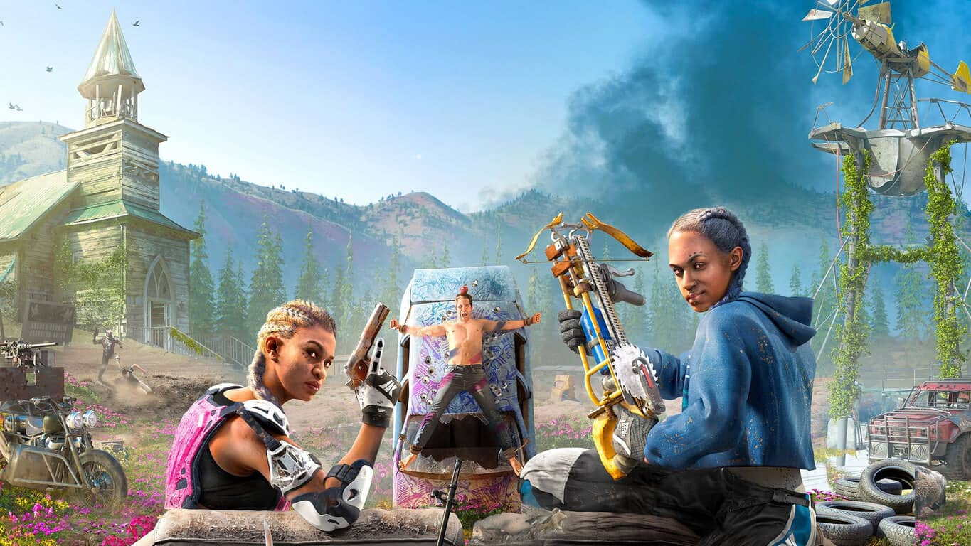 Far Cry New Dawn video game on Xbox One