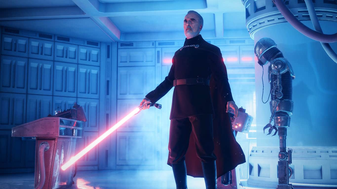Count Dooku in Star Wars Battlefront II video game on Xbox One