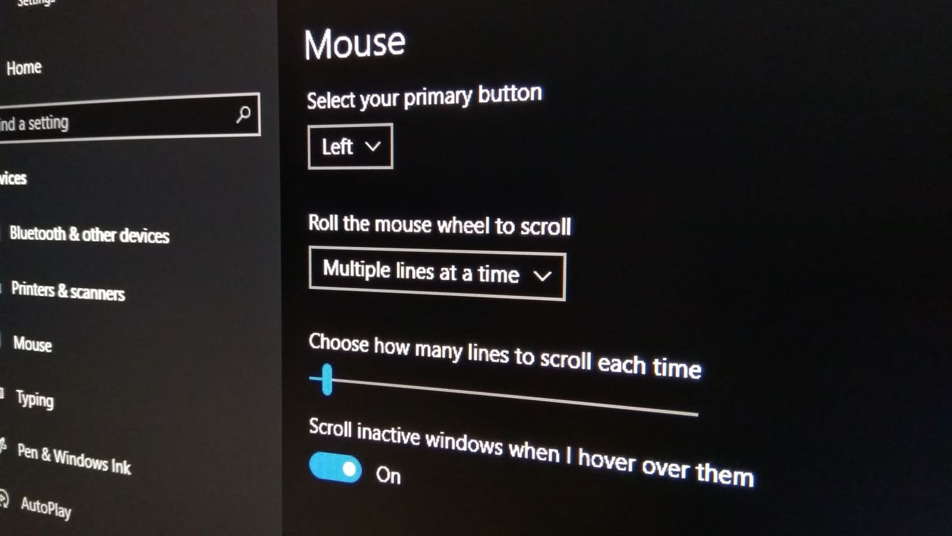 How to disable inactive window scrolling in Windows 10