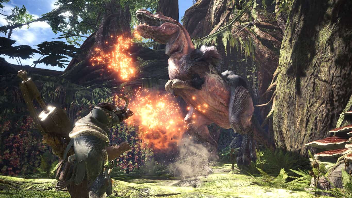 Monster Hunter World video game on Xbox One