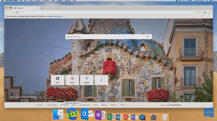 Microsoft Edge is now available on macOS in addition to Windows 10.
