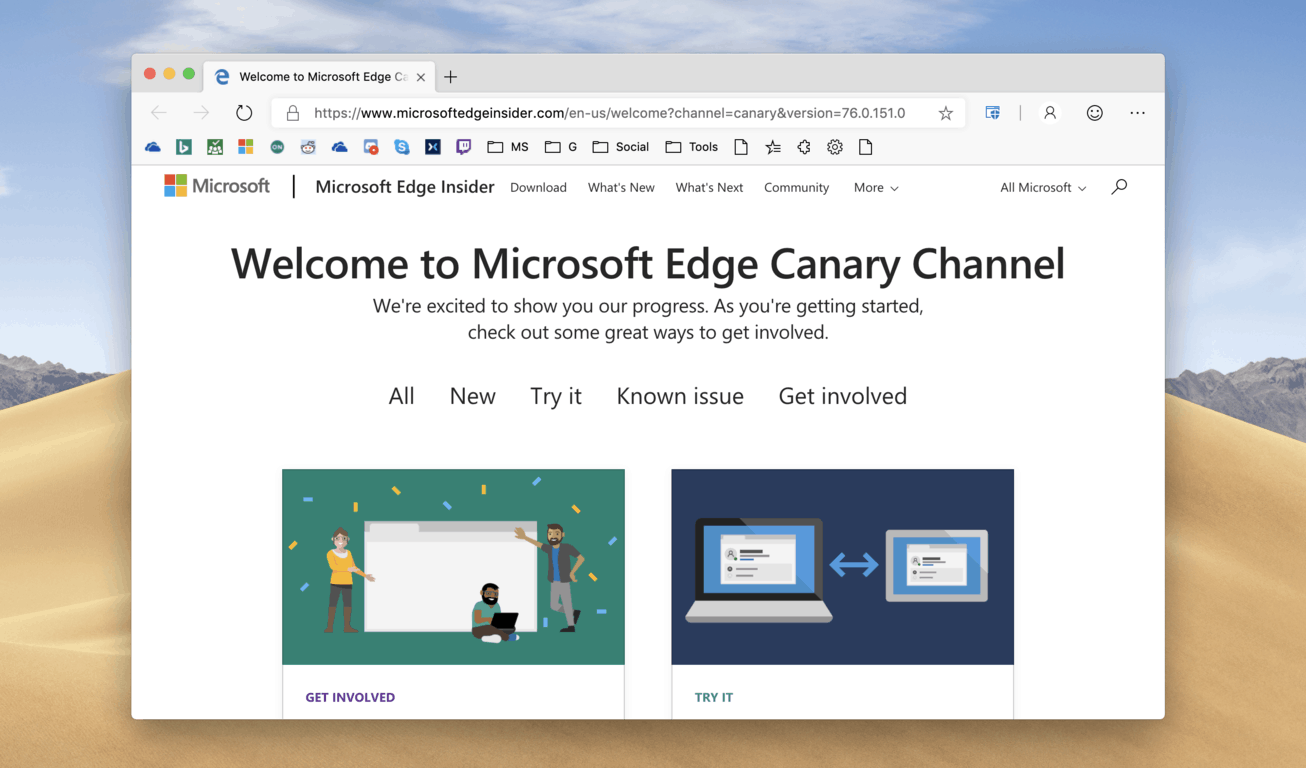Microsoft Edge Insider Canary channel is now officially