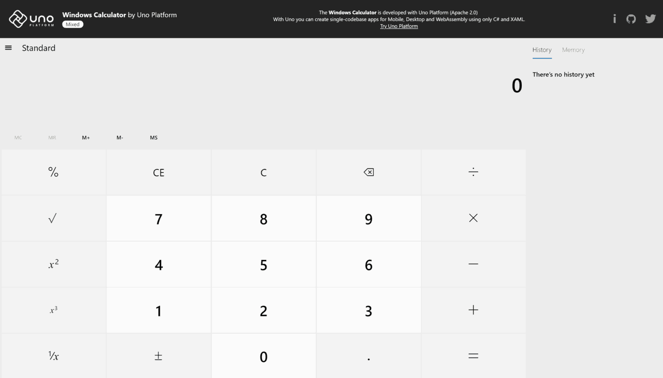 Windows Calculator - Uno Calculator