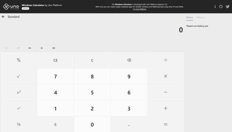 Windows Calculator - Uno Calculator