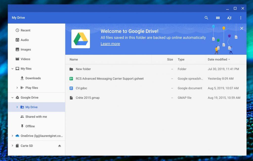 Files app Google Drive