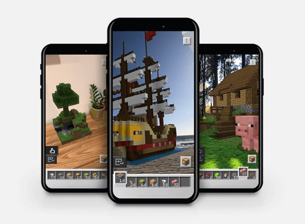 Minecraft earth on the phones