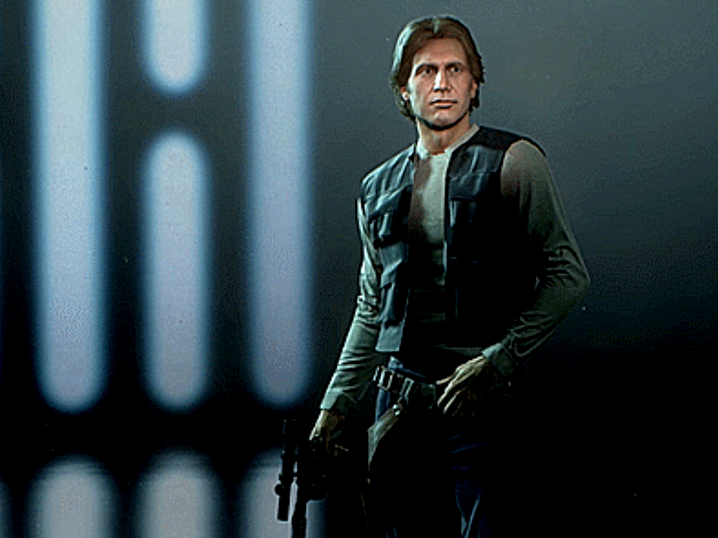Han Solo skin in Star Wars Battlefront II video game on Xbox One