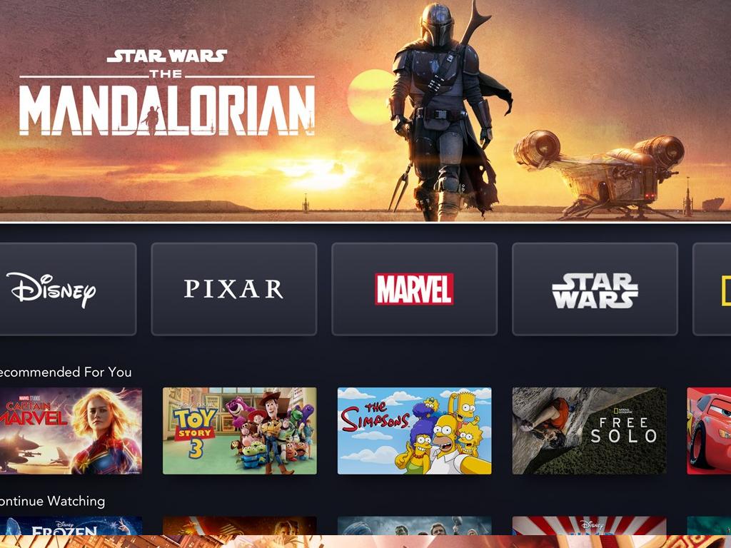 Disney+ app on Xbox One