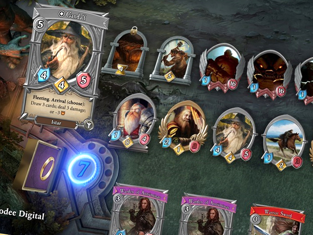 The Lord of the Rings: Adventure Card Game video game on Xbox One