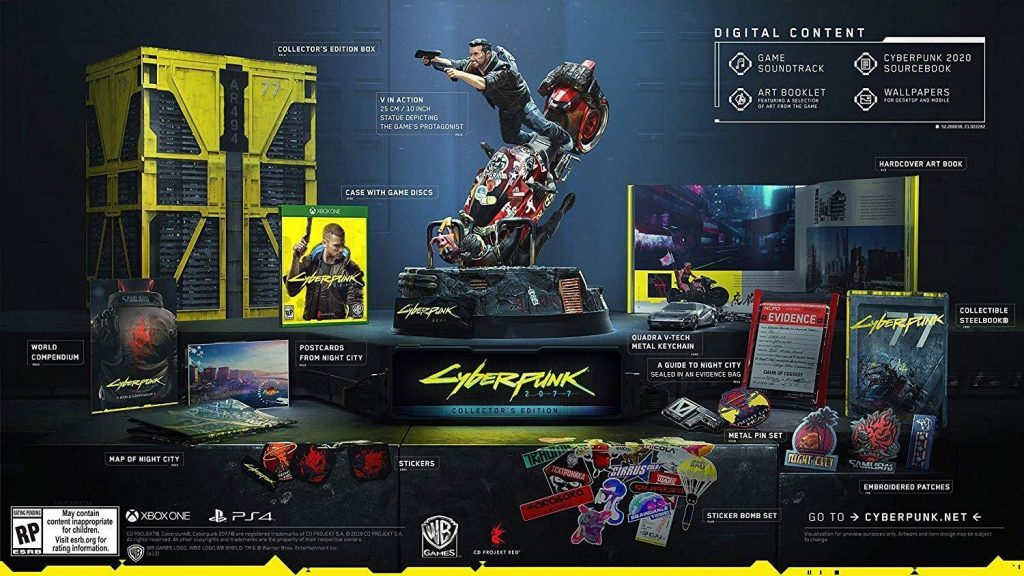 Cyberpunk 2077 collector's edition on Xbox One
