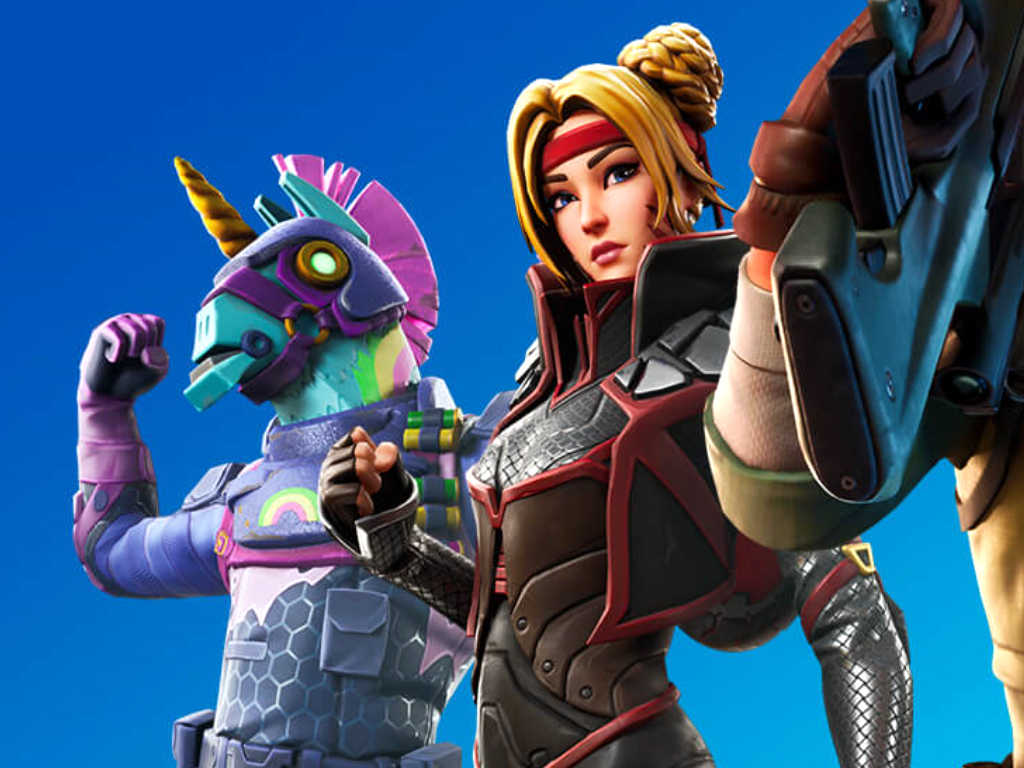 Fortnite video game on Xbox One and Windows 10