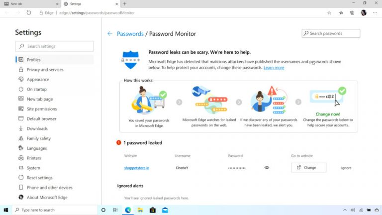 Microsoft Edge to Warn Of Credentials Leaked in Data Breaches