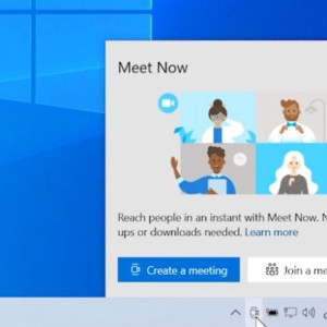 New optional patch for Windows 10 versions 20H2 and 2004 brings Meet Now button to the Taskbar