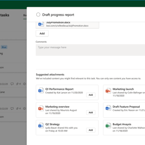 Microsoft Planner tasks will soon surface relevant files to add as attachments