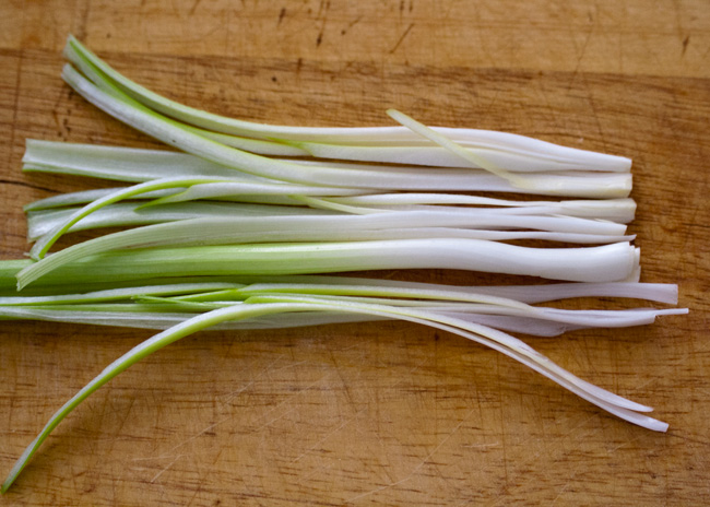 Green onions for scallion cream cheese recipe