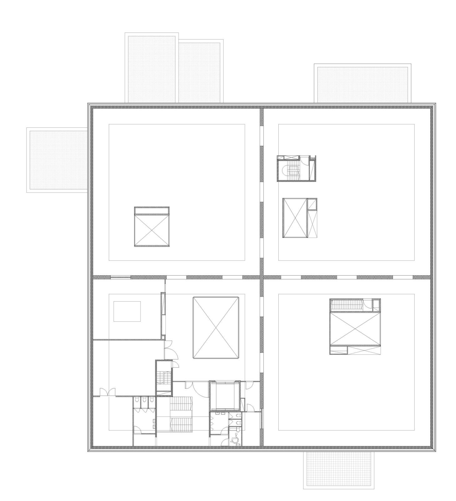 Plan tweede verdieping