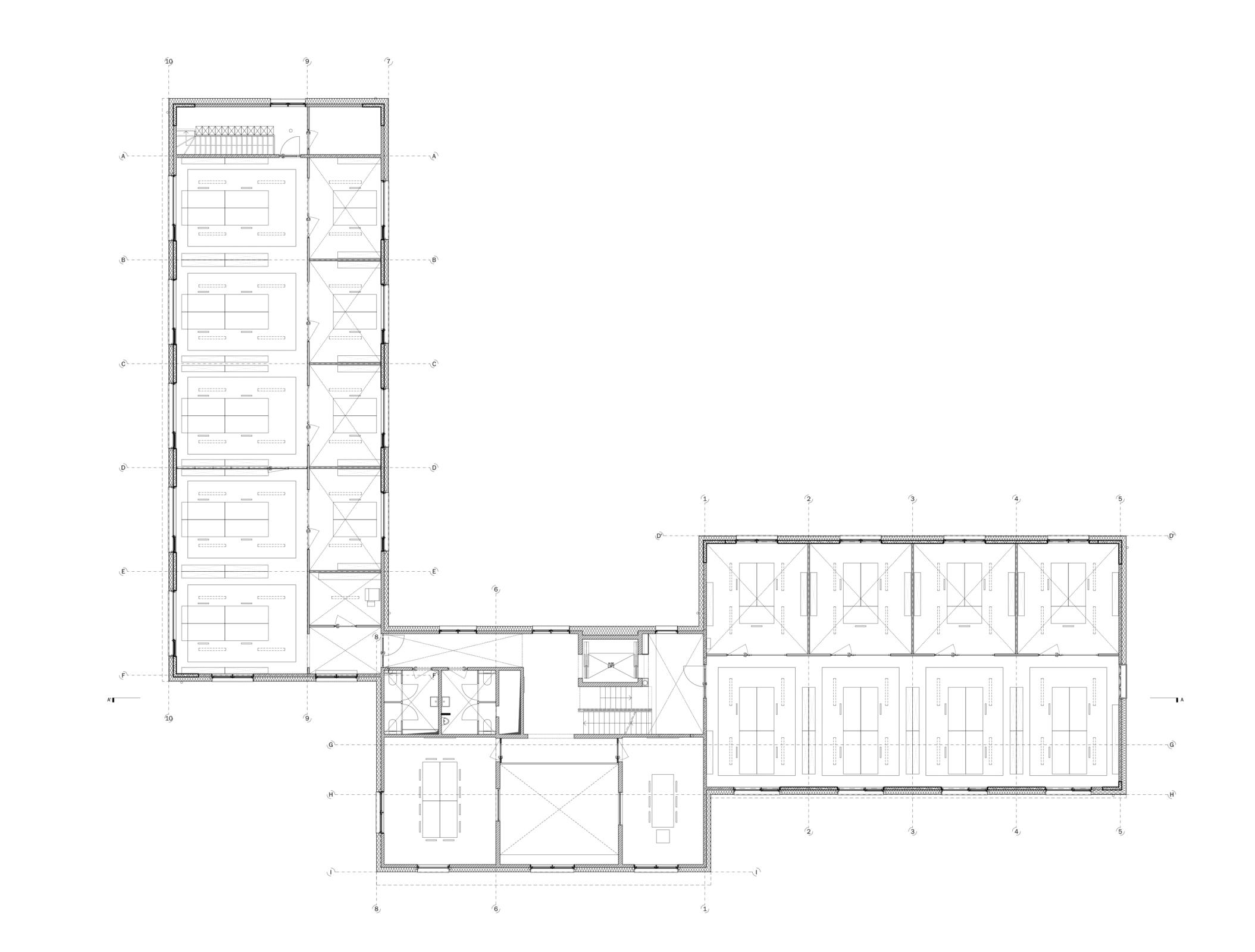 Plan eerste verdieping