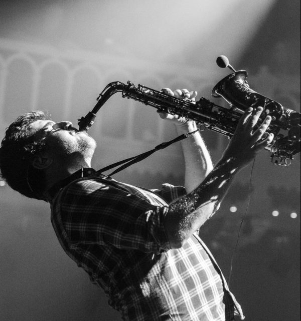 Some live saxophone adds some jazz