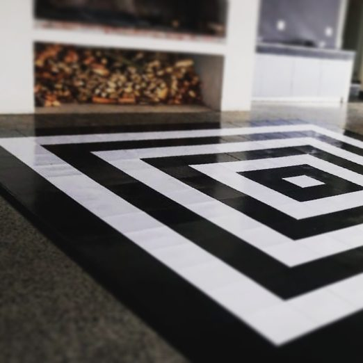 5x5m black and white concentric dance floor