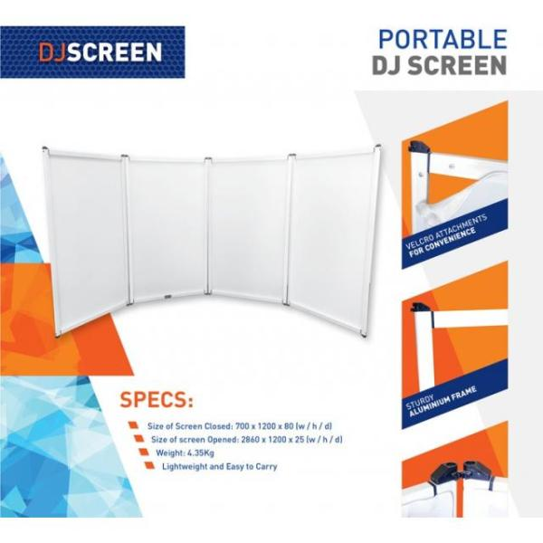 White Portable DJ Screen Specifications