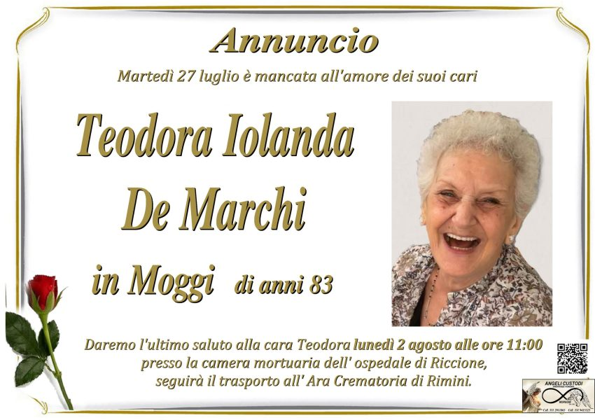Teodora Iolanda De Marchi in Moggi