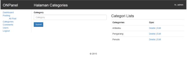 cara membuat website halaman categories