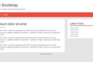 belajar bootstrap untuk membuat template website