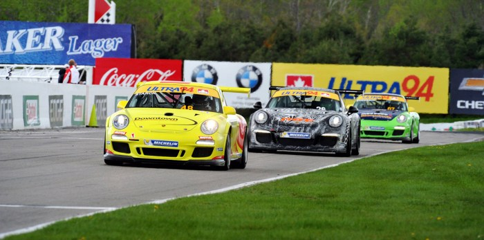 Photo Credit: Unknown. Ilker taking the #48 home to 2nd place at Mosport