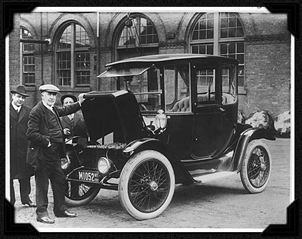 Sick electric car bro! Sorry about that electric starter they just developed... (Photo Credit: Wikipedia)