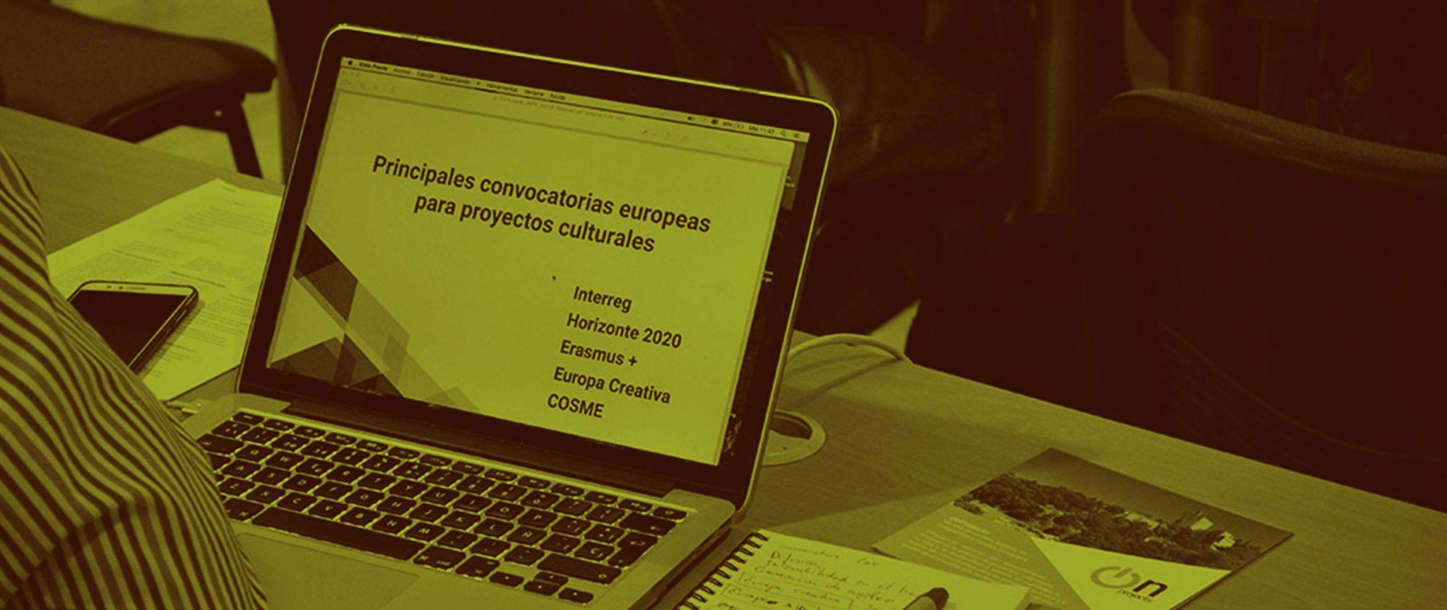 Taller de redacción de proyectos europeos en el ámbito de la cultura organizado
