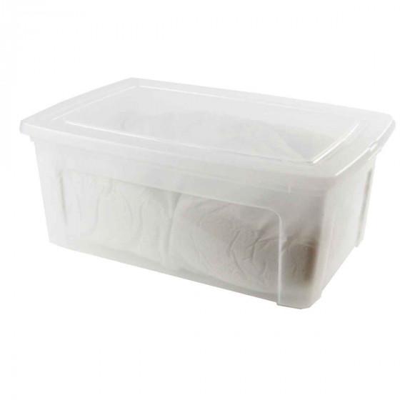 boite en plastique transparent avec couvercle xl