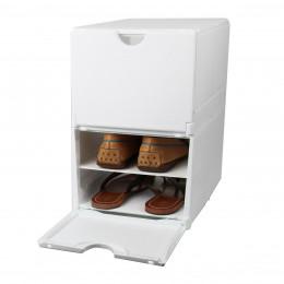 rangement chaussures boites etageres