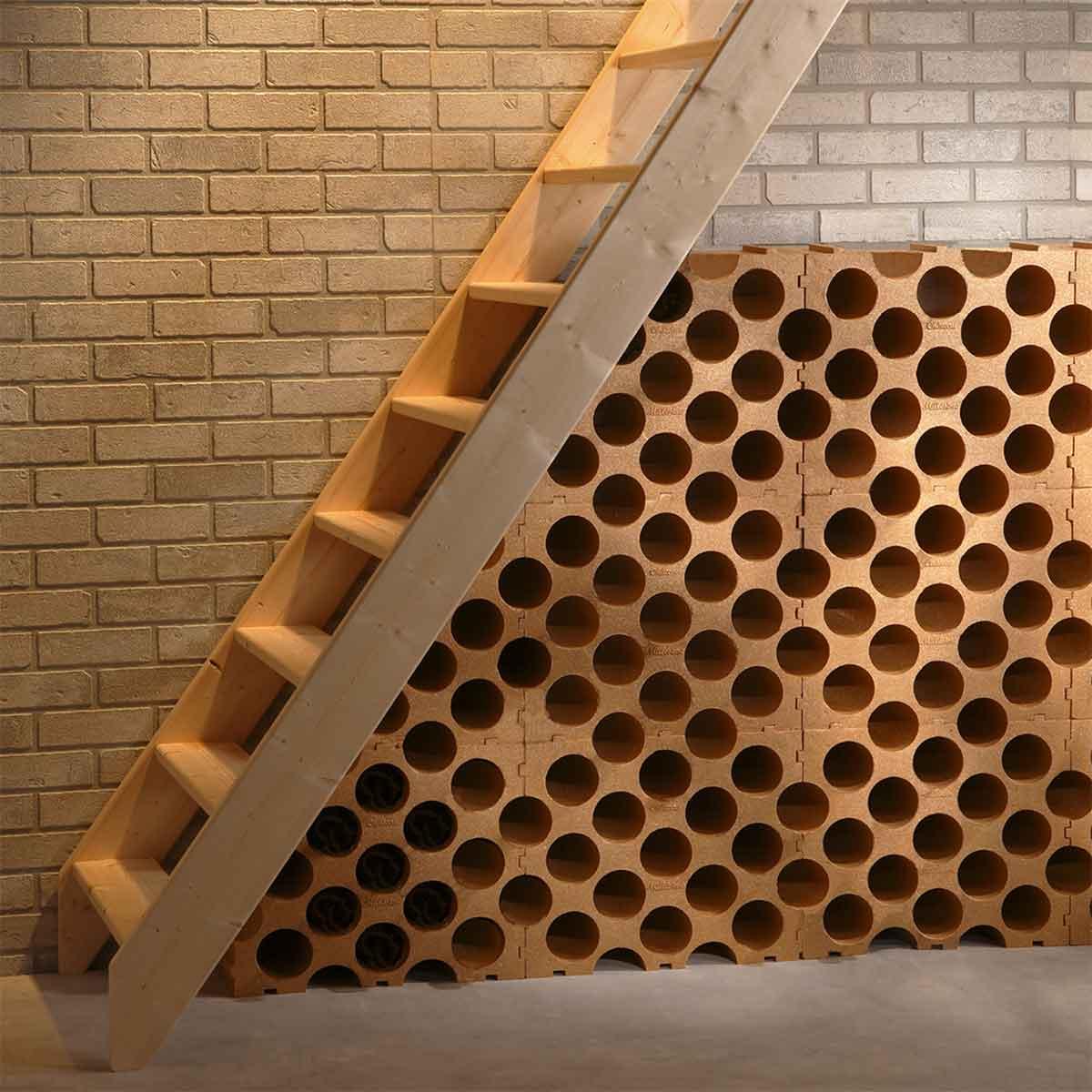 Casier A 15 Bouteilles En Polystyrene Couleur Terre Cuite Cave