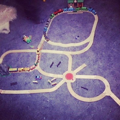 We decided we wanted all our trains & carriages & trucks on track....
