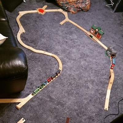 Sqk's creation with his railway. Put it together all by himself.