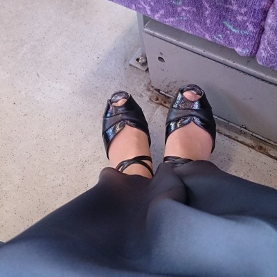 #taspic. #feeties on train for end of year Faculty ball.