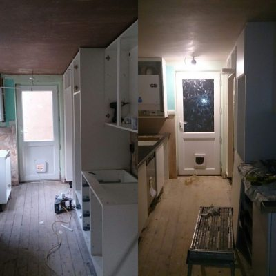 Current comparison after today.. #newkitchen