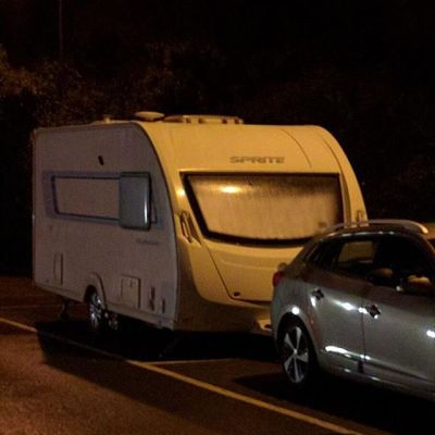 And parked up for the night