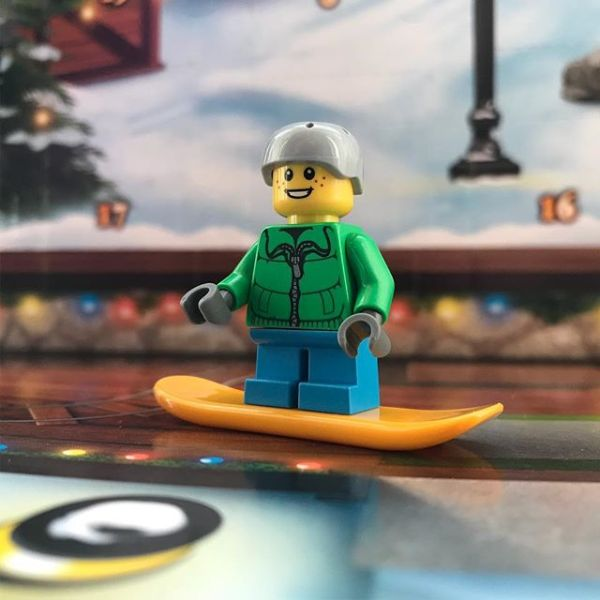 Skating boy joins the party in #legocityadvent