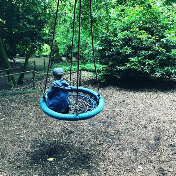 Today we are enjoying a swing.....
