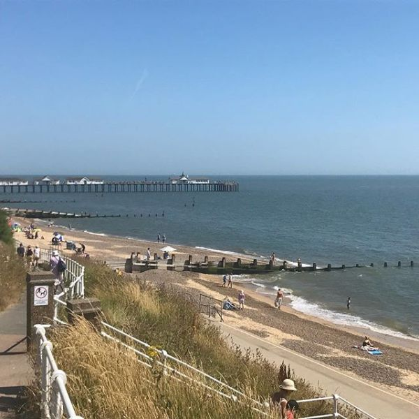 Revisiting more of my childhood - Southwold today. Sqk wants to go in but other plans today....