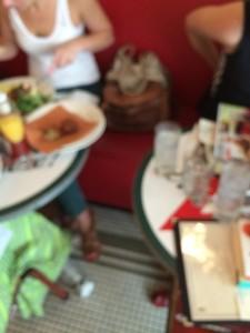 The eensy weensy space between tables